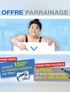 Bons Plans Tryba CHATEAUBRIANT : Parrainez et gagnez 150€ de chèques cadeaux par filleul