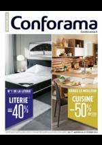 Prospectus Conforama : Literie et cuisines 2016