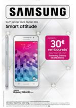 Bons Plans Téléphone Store : Jusqu'à 30€ remboursés sur le Samsung Galaxy Grand Prime