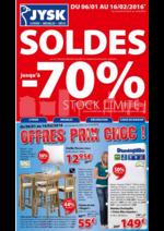 Prospectus Jysk : Derniers jours de Soldes: jusqu'à -70%!