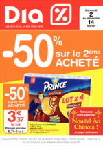 Prospectus Dia : -50% sur le 2 ème acheté