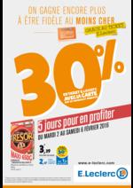 Prospectus E.Leclerc Express : 30% en ticket E.Leclerc avec la carte sur de nombreux produits