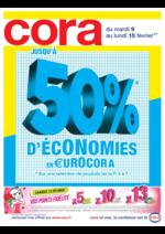Prospectus Cora : Jusqu'à 50% d'économies en €uroCora