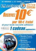 Prospectus E.Leclerc : Recevez 10€ pour 100€ d'achat