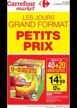 Prospectus Carrefour Market : Les jours grand format petits prix