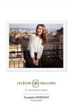 Promos et remises  : Le catalogue Escapade à Bordeaux printemps 2016