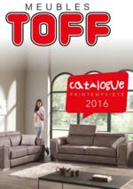 Prospectus Meubles Toff : Catalogue printemps - été
