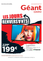 Prospectus Géant Casino : Les jours renversants