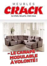 Prospectus Meubles Crack : Le canapé modulable à volonté !
