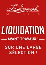 Prospectus Meubles Lambermont  : En mai, LIQUIDATION !