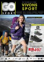 Prospectus Go Sport : Vivons sport