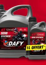 Bons Plans Dafy moto : 1 bidon de 1L offet pour un bidon de 4L acheté