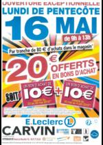 Promos et remises  : 20€ offerts en bons d'achat part tranche de 80€ d'achats