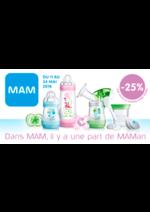 Promos et remises Autour de bébé : -25% sur MAM*