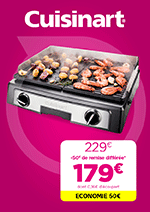 Promos et remises  : Découvrez l'offre Plancha Cuisinart !