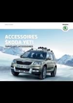 Catalogues et collections Skoda : Tarifs des accessoires Skoda Yeti