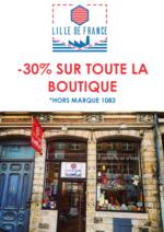 Promos et remises Lille de France : 30% de réduction sur toute la boutique !