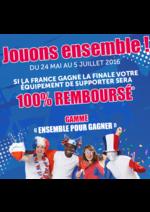 Promos et remises  : 100% Remboursé si la France gagne l'Euro 2016
