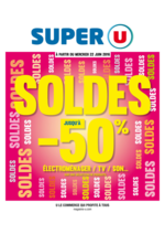 Prospectus Super U : Soldes jusqu'à  -50%