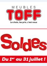 Prospectus Meubles Toff : Les soldes débarquent !