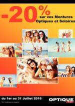 Prospectus Auchan : -20% sur vos montures optiques et solaires
