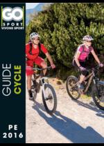 Guides et conseils Go Sport : Guide Cycle pe 2016