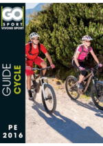 Guides et conseils Go Sport : Guide Cycle pe 2016
