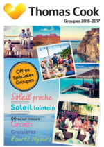 Catalogues et collections Thomas Cook : Catalogue Groupes 2016-2017