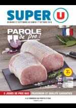 Prospectus Super U : Parole de pro !