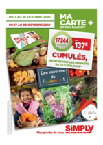 Promos et remises  : Ma carte + Simply Market