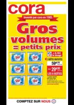 Prospectus Cora : Gros volumes = petits prix