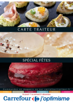 Menus Carrefour : Carte traiteur spécial fêtes