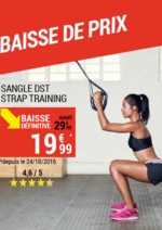 Promos et remises DECATHLON : Baisse de prix : sangle DST strap training