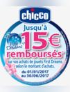 Jusqu'à 15? remboursés - jouets Chicco First Dreams