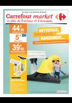 Prospectus Carrefour Market : Nettoyage, bricolage, rangement...