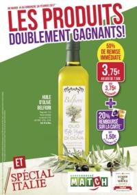 Prospectus Supermarchés Match Saint-Avold : Les produits doublement gagnants !