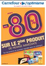 Promos et remises  : Jusqu'à -80% sur le 2ème produit de remise immédiate
