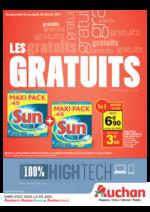Prospectus Auchan : Les gratuits