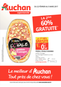 Prospectus Auchan Supermarché Saint-Germain-lès-Corbeil : La 2ème 60% gratuite