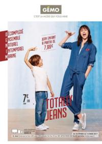 Prospectus Gemo BONDY : Totally jeans