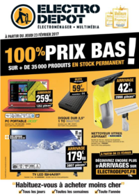 Prospectus ELECTRO DEPOT COIGNIERES : 100% prix bas !
