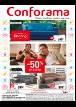 Folhetos Conforama : -50% em Sófas