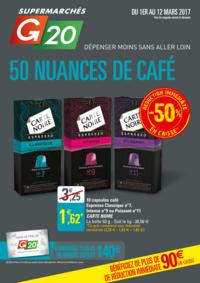Prospectus G20 PARIS 8 Marché Europe : 50 nuances de café