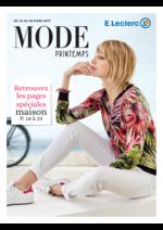 Prospectus E.Leclerc : Mode printemps