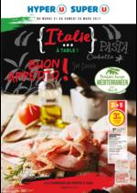 Prospectus Super U : Italie à table