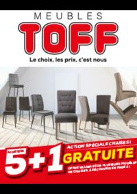 Prospectus Meubles Toff : Action chaises : 5 achetées + 1 gratuite