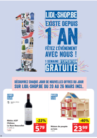 Prospectus Lidl ANDERLECHT Rue Pierre Marchant : Fêtez les 1 AN de Lidl-Shop.be