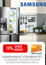Promoções e descontos Jumbo : Samsung - Oferta 10% Cartão Jumbo