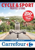 Prospectus Carrefour : Cycle & sport Profitez à fond