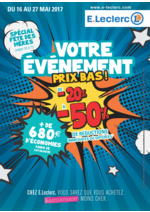 Prospectus E.Leclerc : Votre événement prix bas !
